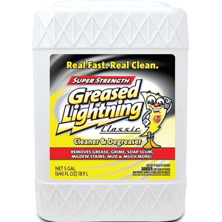 Greased Lightning 30108GRL Cleaner/Degreaser, 5 gal, Pail, Clear, Liquid, Clean Fresh