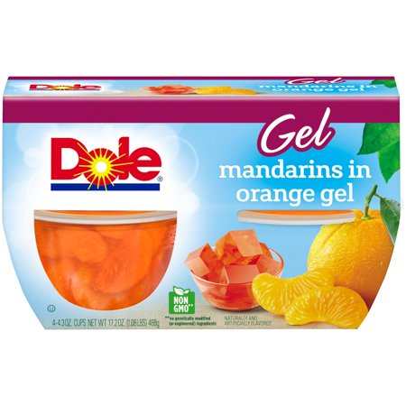 ((3 Pack) Dole Fruit Bowls, Mandarins in Orange Gel, 4.3 Ounce (4 Cups))