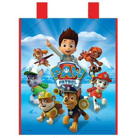 Large Plastic PAW Patrol Favor Bag, 13 x 11in - Halloween Favor Bags Make
