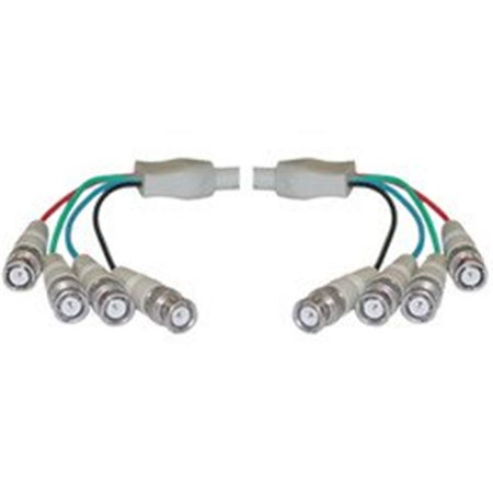 Cable Wholesale BNC x 4 Male to BNC x 4 Male Cable, Double-Shielded, 25 foot - image 1 of 1
