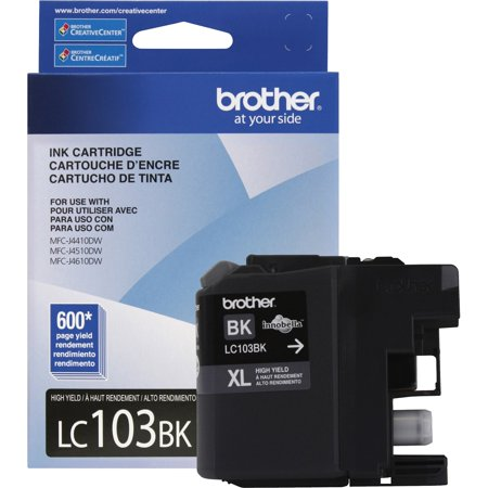 Brother Drum Unit Ink Cartridges (Brother Genuine High Yield Black Ink Cartridge, LC103BKS, Replacement Black Ink, Page Yield Up To 600 Pages, LC103 )