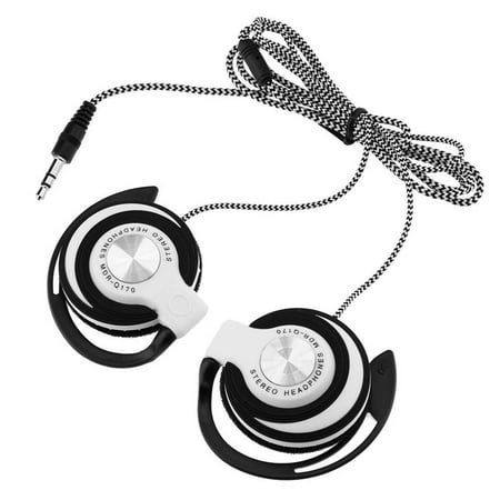 3.5mm Wired Gaming Headset On-Ear Sports Headphones Ear-hook Music Earphones for Smartphones Tablet Laptop Desktop