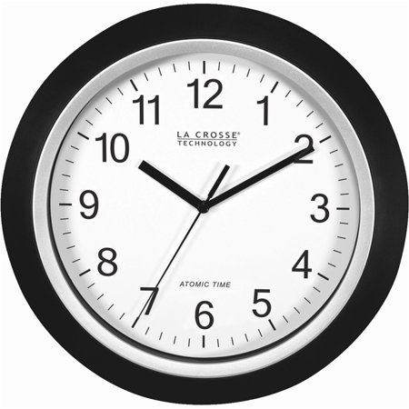 Orange 12 Inch Wall Clock - La Crosse Technology WT-3129B 12 Inch Atomic Analog Wall Clock -Black
