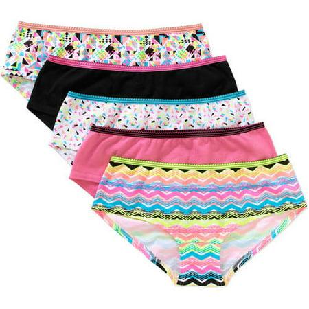 3c6ea3d6ce16 No Boundaries - No Boundaries Junior Cotton Stretch Hipster Panty, 5 pack -  Walmart.com