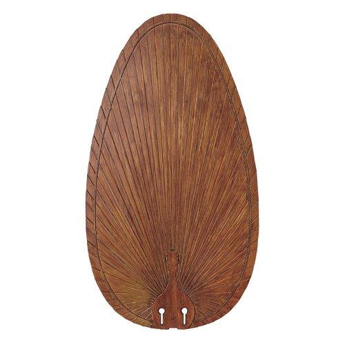 22 in. Narrow Oval Composite Palm in Brown Blade - Set of 5