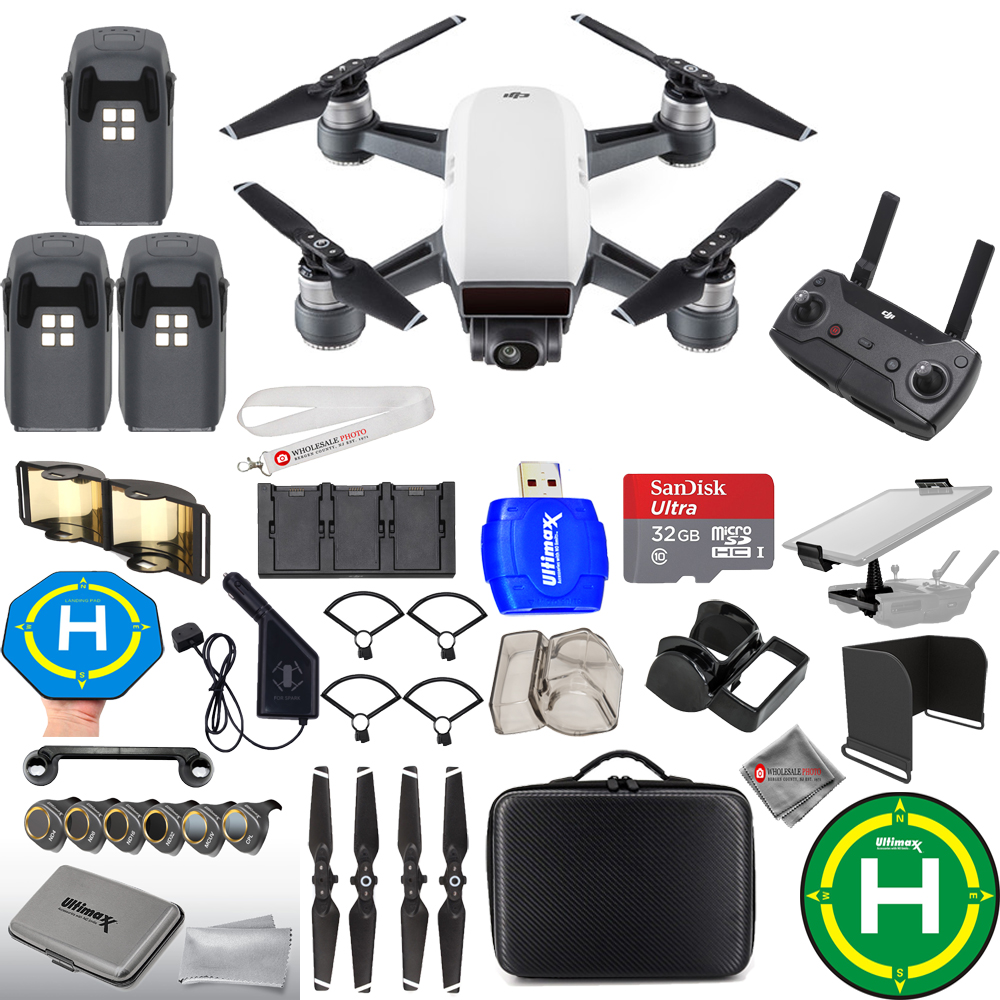 UNASSIGNED DJI Spark Fly More Combo MEGA 3 BATTERY BUNDLE W/ CARRY CASE + MUCH MORE