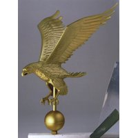 Large Weather Resistant Flagpole American Eagle (Gold Bronze)
