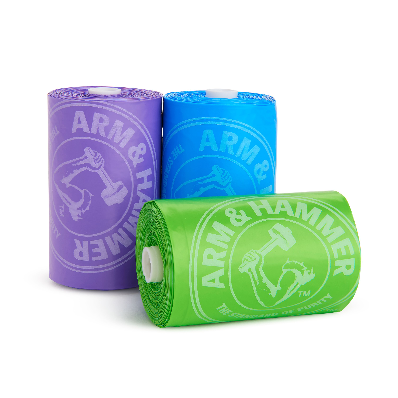 Munchkin Disposable Diaper Bag Refills, Lavender, 3 Count