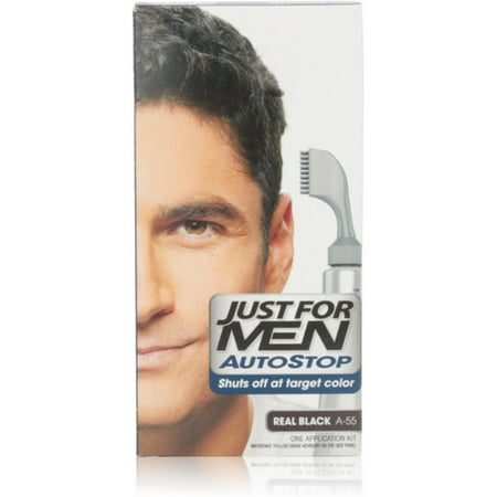 3 Pack - Just For Men AutoStop Haircolor, Real Black A-55 1 Chaque