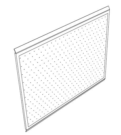 "Mayline Techworks 30"" x 24"" Peg Board in Black"