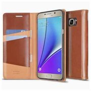 Refurbished Galaxy Note 5 Case, Ringke SIGNATURE [Brown]Genuine Leather Case [Free HD Film, 3 ID & Card Slot] - RDI-GNT5-BR