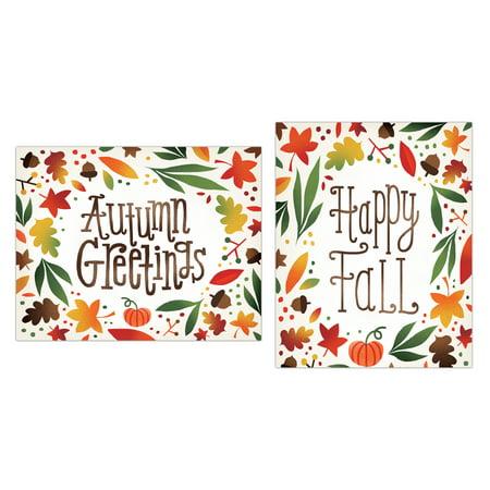 Seasonal 'Autumn's Greetings and Happy Fall