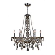 Worldwide Lighting Provence 6-Light Crystal Chandelier