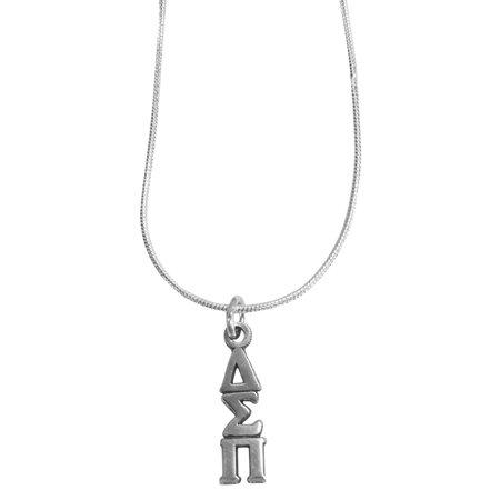 Sterling Silver Lavalier (Delta Sigma Pi Fraternity Lavalier - Sterling Silver - With Chain)