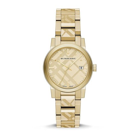 Burberry BU9145 The City Gold-Tone Ladies Watch Anti reflective sapphire