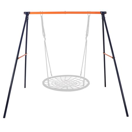 "Zeny Metal Swing Stand Web Tree Swing Frame -Extra Large Heavy Duty All-Steel All Weather A-Frame Set , 72"" Height 87"" Length, Fits for Most Swings, Fun for Kids"
