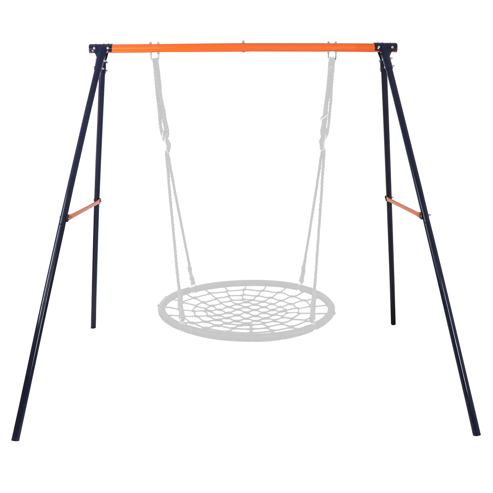 Zeny Web Tree Swing Frame -Comes Assembled with Durable and Adjustable Ropes - Installs in Seconds - 220 lb Weight Capacity - Non-Stop Fun