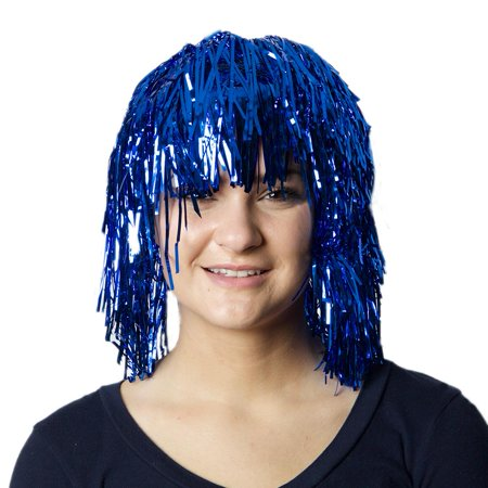 Blue Tinsel Wig](Tinsel Wigs)