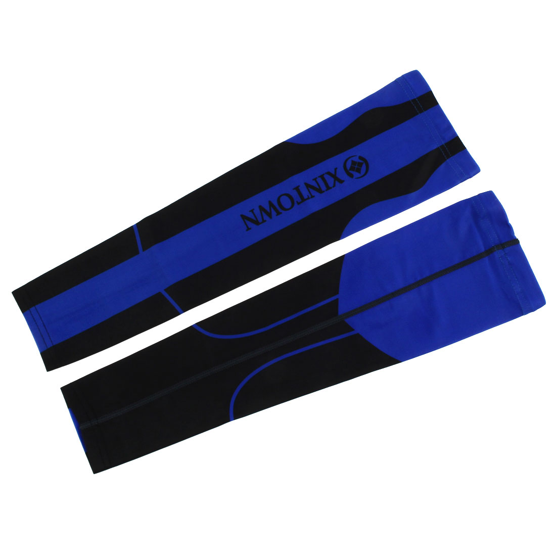 XINTOWN Authorized Cooler Band Arm Sleeves Support Protector Black Blue M Pair