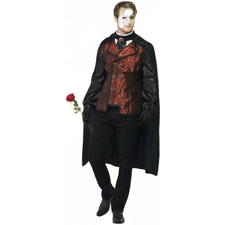 Dark Opera Masquerade Adult Costume - Large - Masquerade Mens Costume
