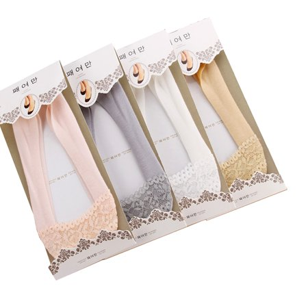 4pairs Women Ballet Dance Casual Silicone Heel Grip Non-Skid Socks US 4-9](Cheap Ballet Heels)