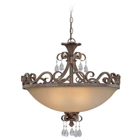 Craftmade Englewood 25634-FR Semi Flush Mount Light ()