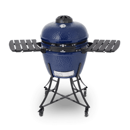 Pit Boss K24 Blue Ceramic Grill Includes Cover and Ceramic Heat Deflector ()