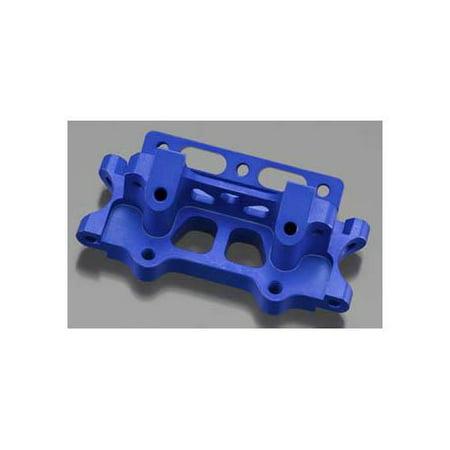 Alum Front Bulkhead - Integy RC Toy Model Hop-ups T6755BLUE V2 Alloy Front Bulkhead for Nitro Rustler