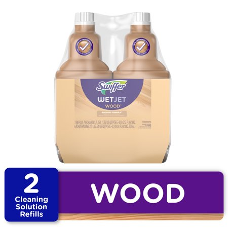 Swiffer WetJet Wood Floor Cleaner Solution Refills, 2 Ct
