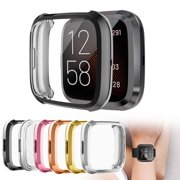 TSV Watch Protective Cover Screen Protector Case Compatible with Fitbit Versa 2, Colorful Shock-Proof Quick Release Shell Smart Watch Cover Light Weight Design Smart Bracelet Replacement Accessories