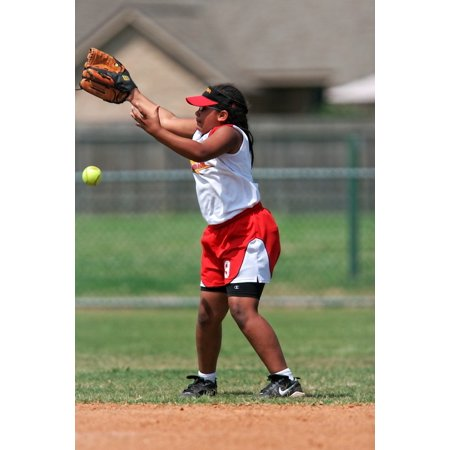 Canvas Print Player Competition Female Game Uniform Softball Stretched Canvas 10 x 14 (Printed Softball Uniforms)