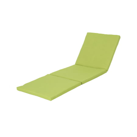 Joyce Outdoor Weather Resistant Chaise Lounge Cushion Green