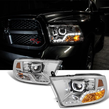 Fits [Angel Mono-Eye Tech] 2009-2018 Dodge Ram 1500 2500 3500 Halo LED