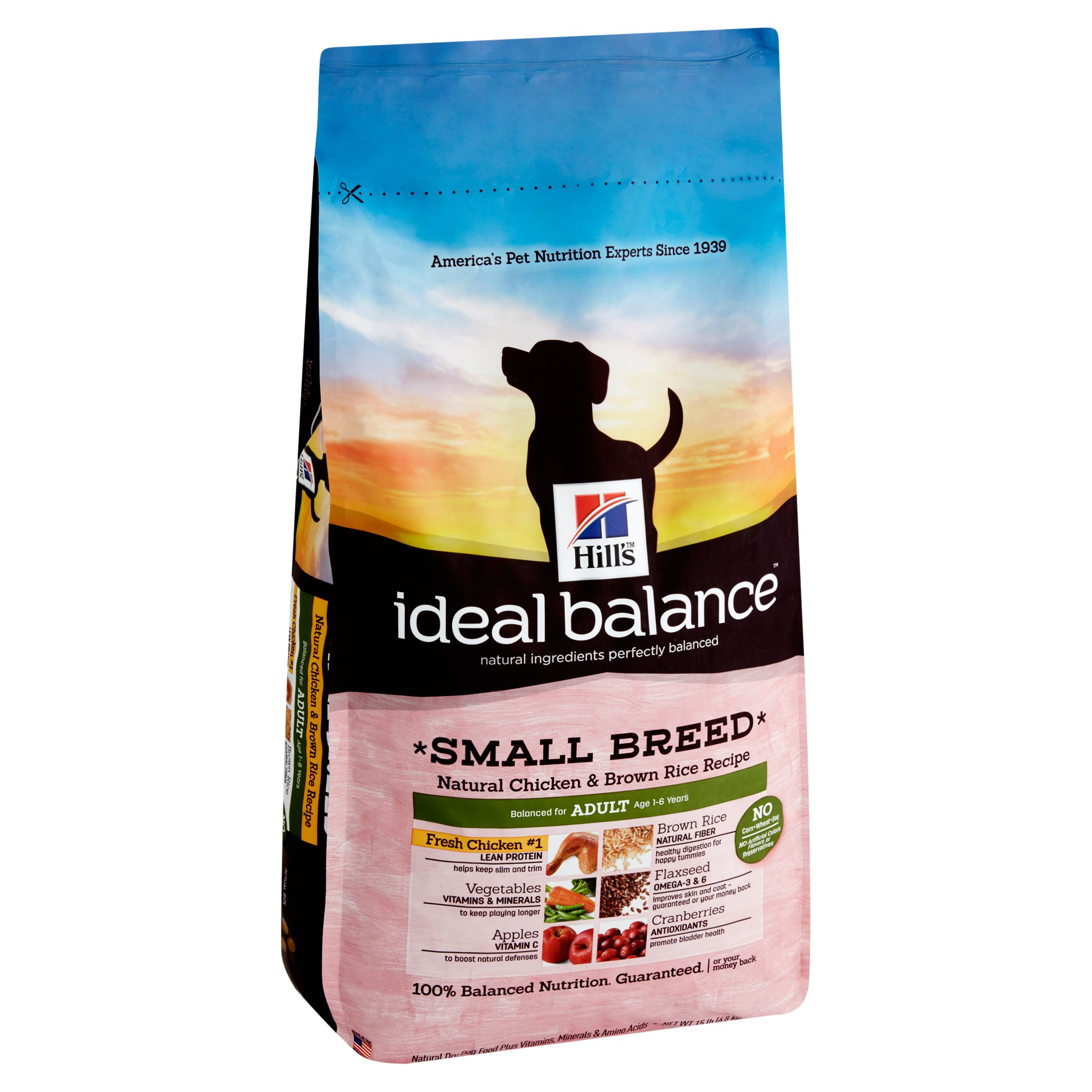 Hills Ideal Balance Adult Small Breed Natural Chicken Brown Rice