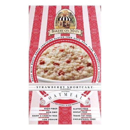 Bakery On Main Strawberry Shortcake Flavored Instant Oatmeal  10 56 Oz  Pack Of 6