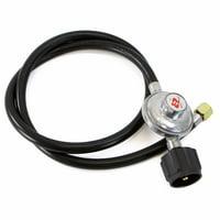 "GHP 80000BTU 3/8"" Female Flare Fitting 4.5-Ft Low Pressure LPG Propane Gas Regulator"