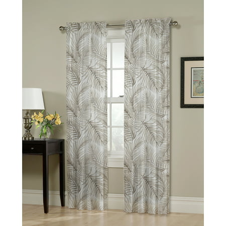 - Better Homes & Gardens Layered Palms Single Curtain Panel