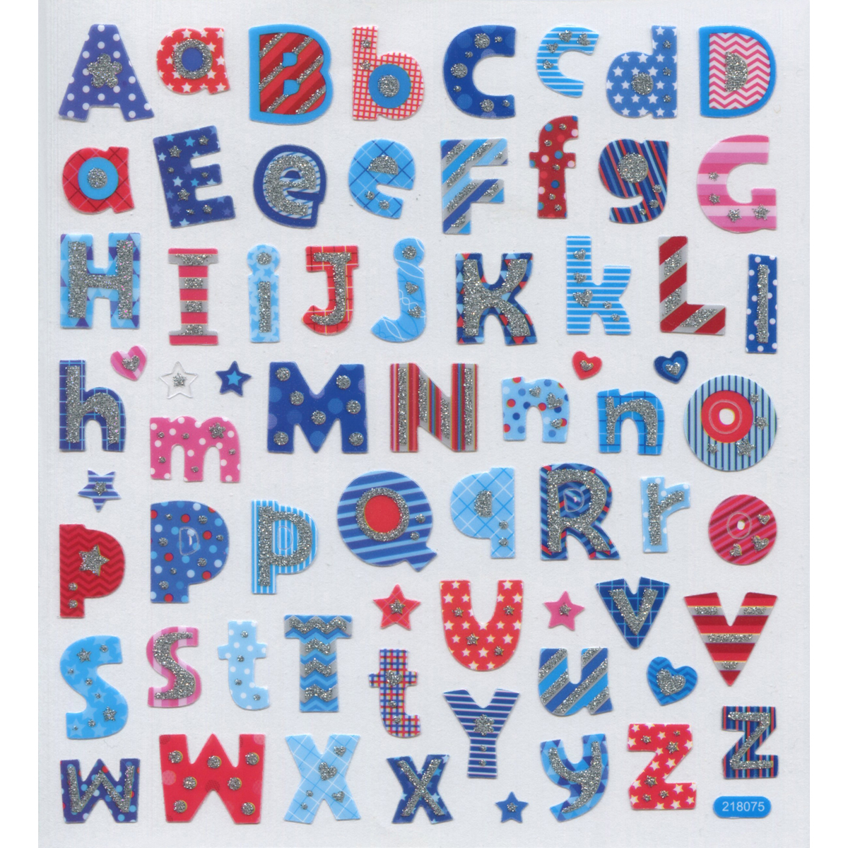Multicolored Stickers-Patriotic Alphabet