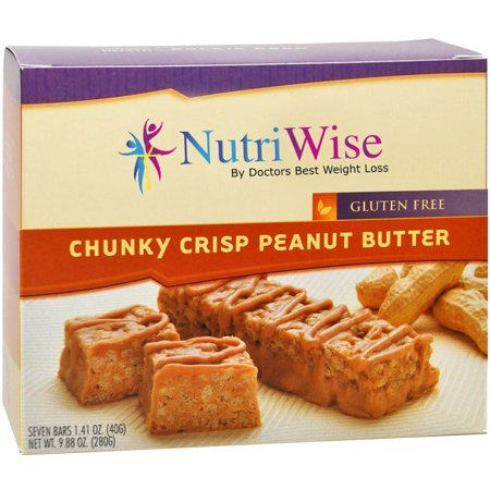 NutriWise - Chunky Peanut Butter Crispy High Protein Diet Nutrition Bar