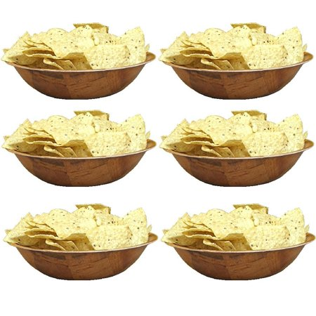 Round Woven Wood Snack or Salad Bowl: 10