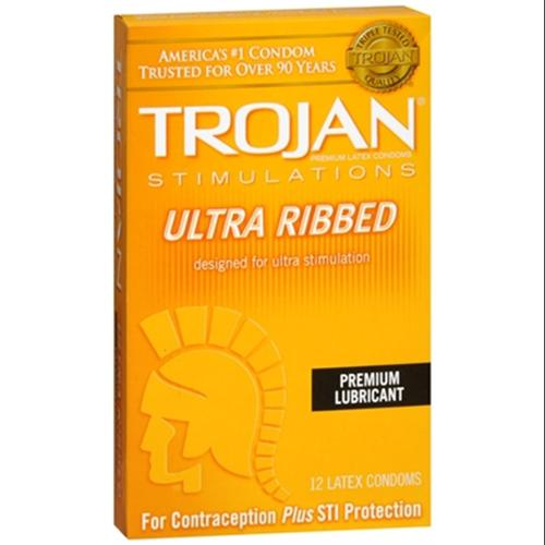 TROJAN Simulations Lubricated Latex Condoms 12 Each (Pack of 6)