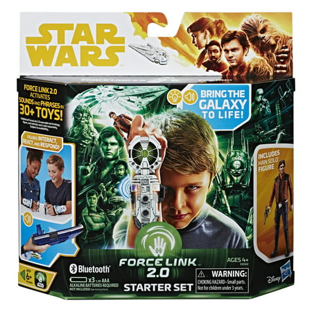 Star Wars Force Link 2.0 Starter Set including Han Solo Figure and Force Link Wearable Technology