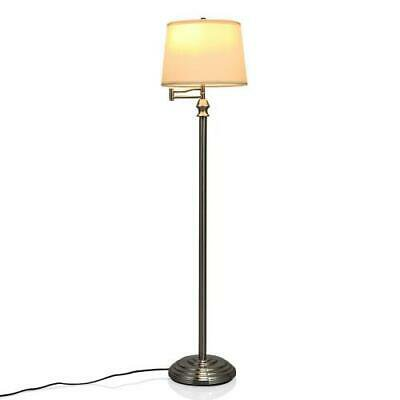 Floor Lamp With Hanging Fabric Shade
