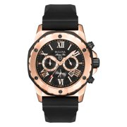 Bulova Men's Marine Star Black Rubber Quartz Watch 98B104