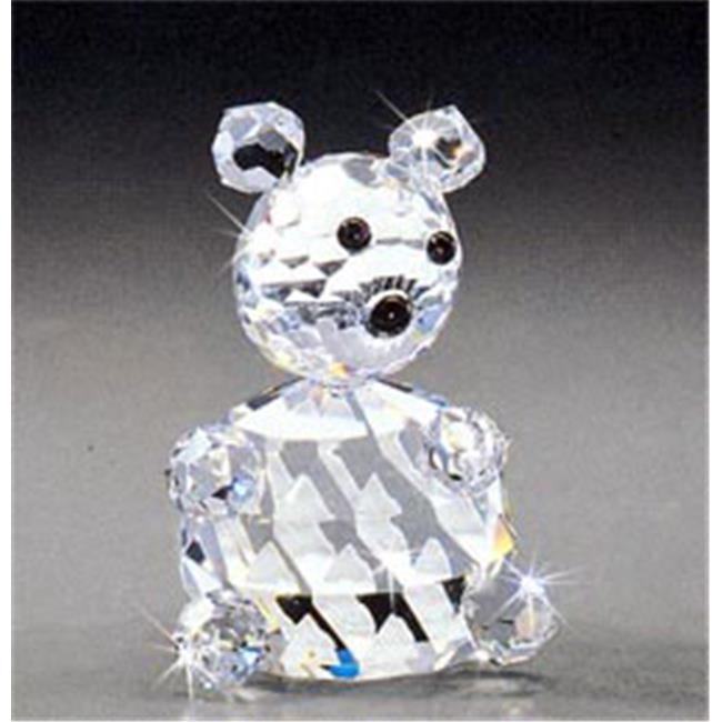 Asfour Crystal 628-70 3.22 L x 4.4 H in. Crystal Bear Animals Figurines