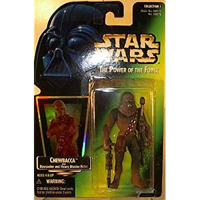Star Wars: Power of the Force Chewbacca with Bowcaster and Heavy Blaster Rifle!