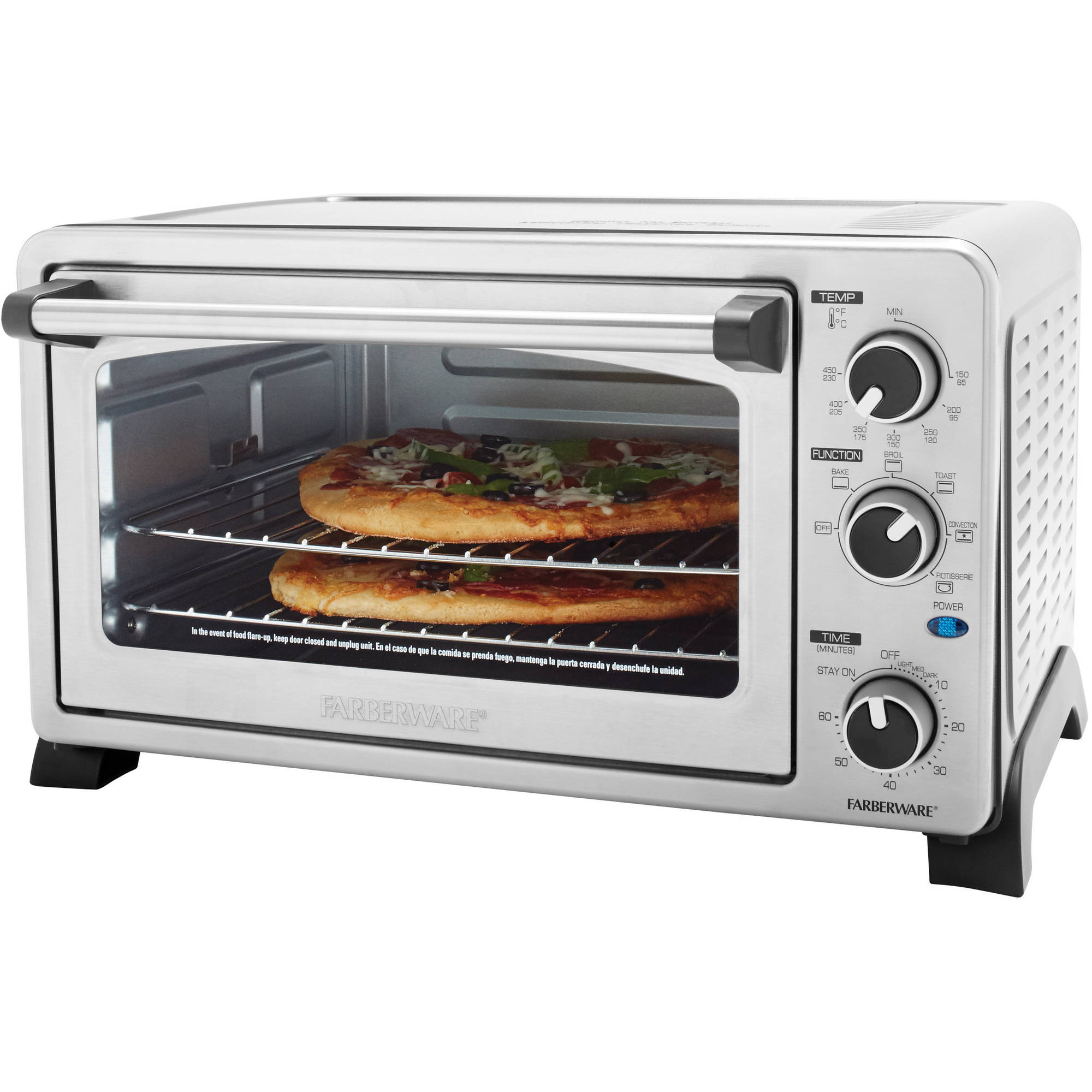 Farberware Toaster Oven Stainless Steel Walmart Com