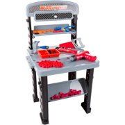 Hey! Play! 75-Piece Toy Woodworking and Mechanic Workshop