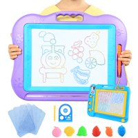 "2 Sets Magnetic Drawing Board for Kids, 13"" x 17"" A4 Size Large Magnet Writing Board, Small Erasable Doodle Board for Drawing"
