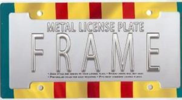 Vietnam Flag License Plate Frame Free Screw Caps Included by Advanced Graphics